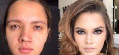 معجزه آرایش؛ تحولات شگفت انگیز چهره این زنان را ببینید