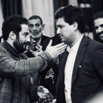 نوید محمدزاده و حامد بهداد در مراسم انجمن منتقدان و نویسندگان