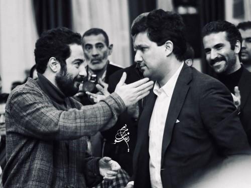 نوید محمد زاده و حامد بهداد در مراسم انجمن منتقدان و نویسندگان