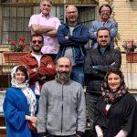 الناز حبیبی و شبنم مقدمی در پشت صحنه سریال دوپینگ
