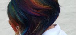 آرایشگر خوش ذوق و موهای رنگین کمانی